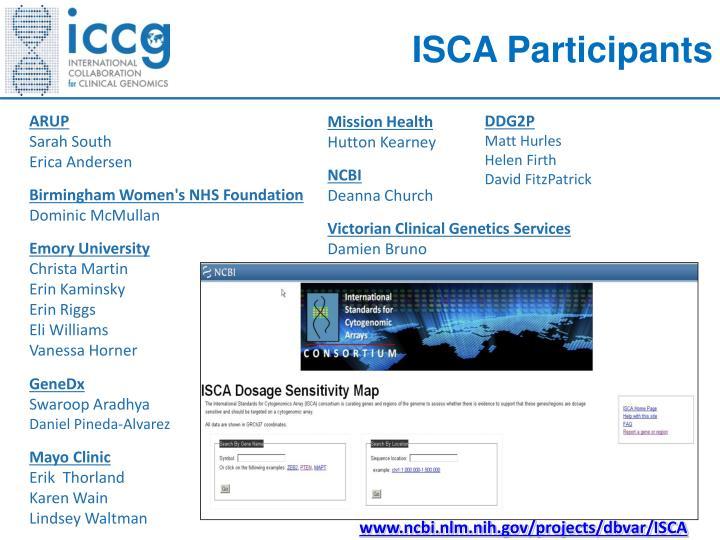 ISCA Participants