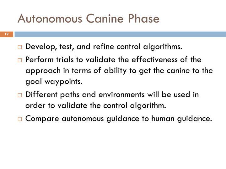Autonomous Canine Phase