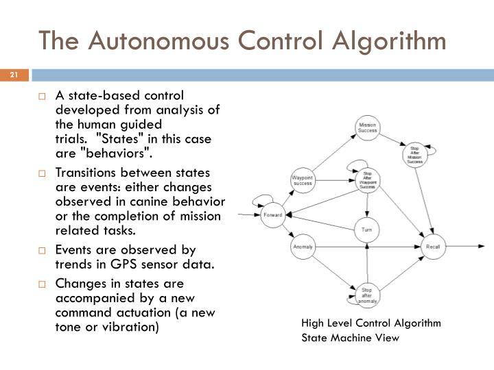 The Autonomous Control Algorithm