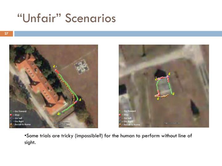 """""""Unfair"""" Scenarios"""