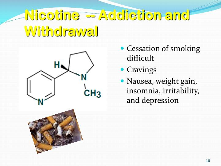 Nicotine  -- Addiction and Withdrawal