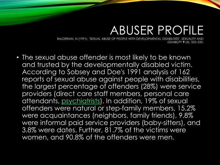 abuse adult developmentally disabled sexual