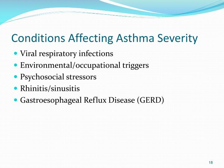 Conditions Affecting Asthma Severity