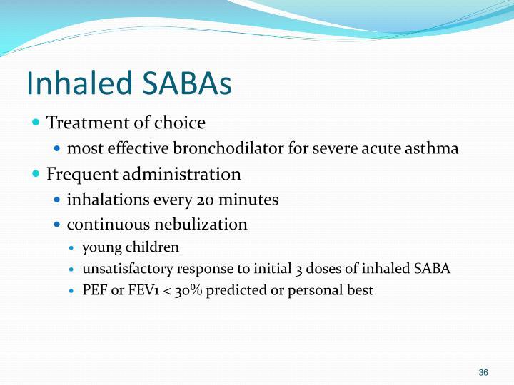 Inhaled SABAs