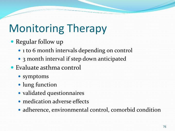 Monitoring Therapy