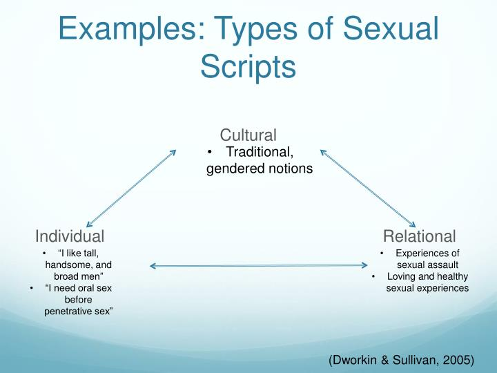 Examples: Types of Sexual Scripts