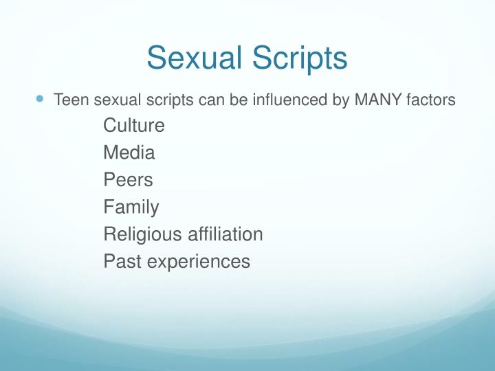 Sexual Scripts