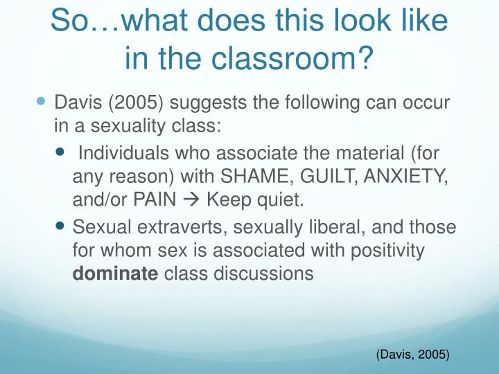 So…what does this look like in the classroom?