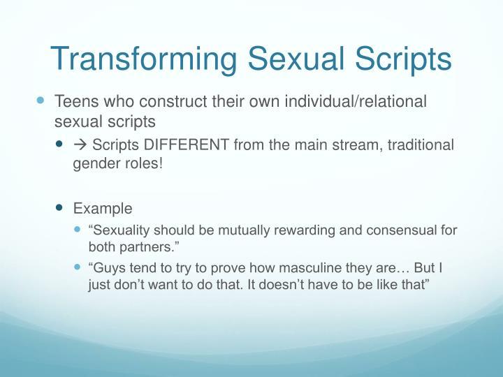 Transforming Sexual Scripts