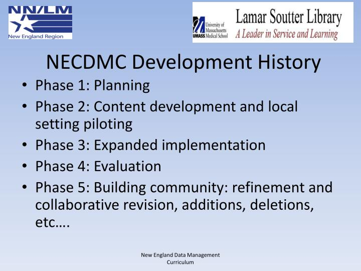NECDMC Development History