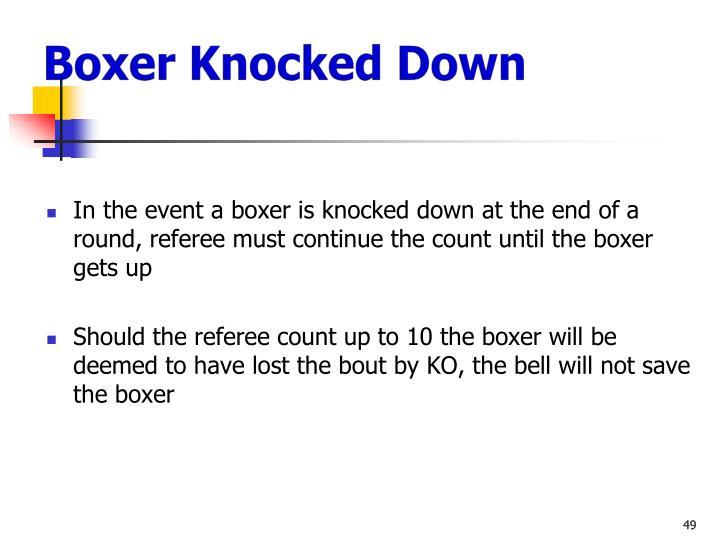 Boxer Knocked Down