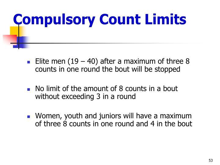 Compulsory Count Limits