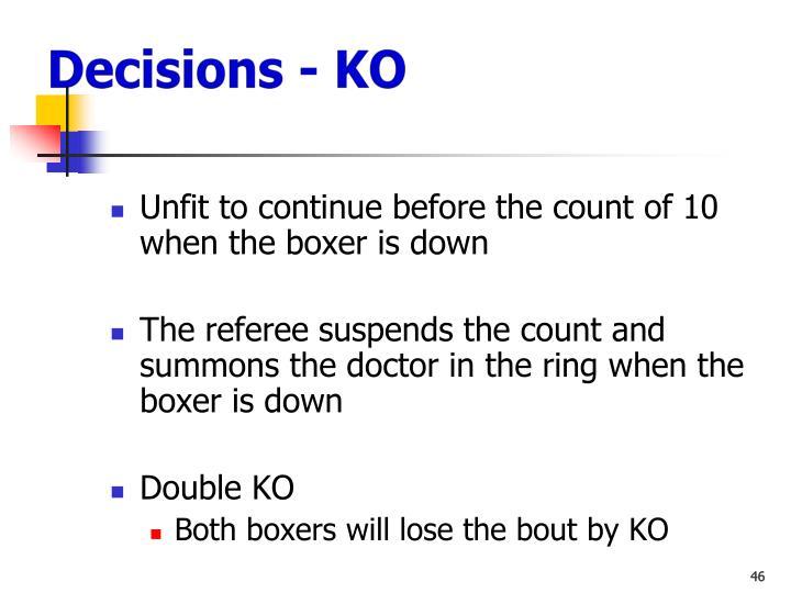 Decisions - KO