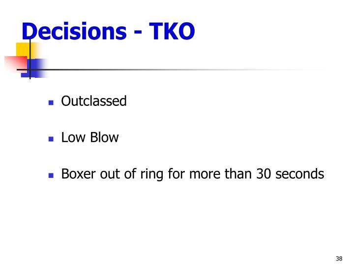 Decisions - TKO
