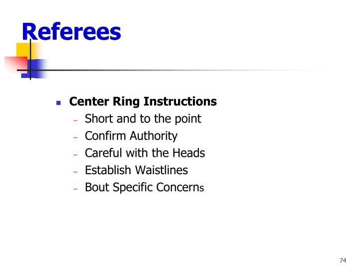 Center Ring Instructions