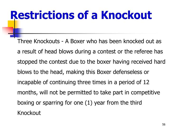 Restrictions of a Knockout