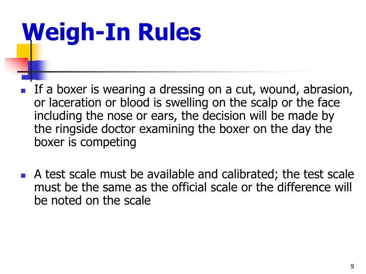 Weigh-In Rules