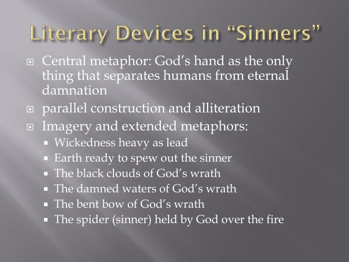 literary devices in sinners in the