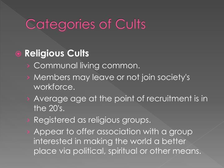 Categories of Cults
