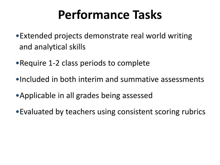 Performance Tasks
