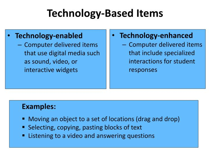 Technology-Based Items