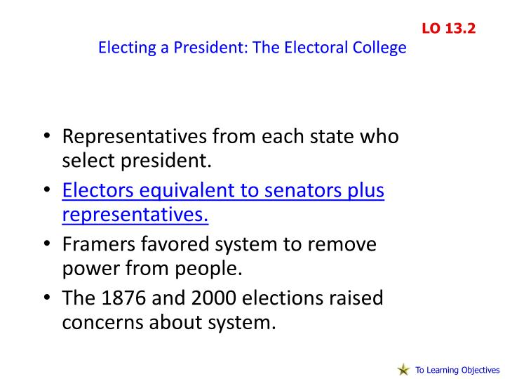Electing a President: The Electoral College