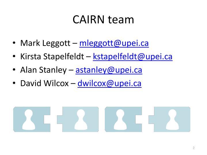 CAIRN team