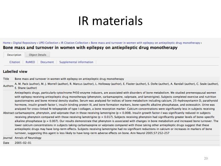 IR materials