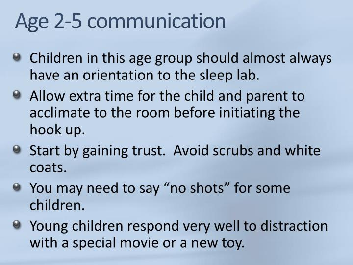 Age 2-5 communication