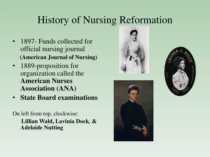 History of Nursing Reformation