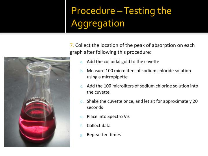 Procedure – Testing the Aggregation