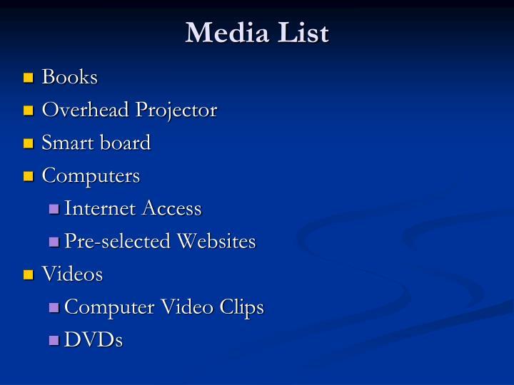 Media List