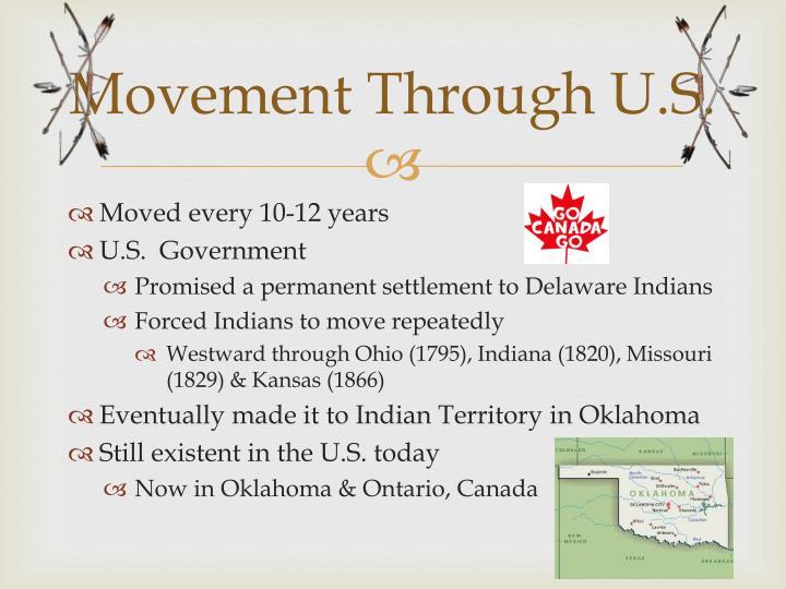 Movement Through U.S.