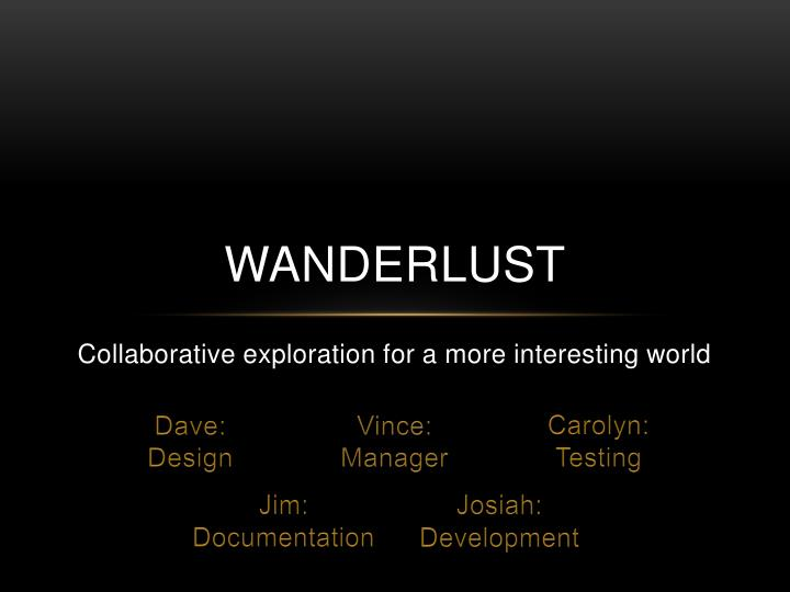 Collaborative exploration for a more interesting world