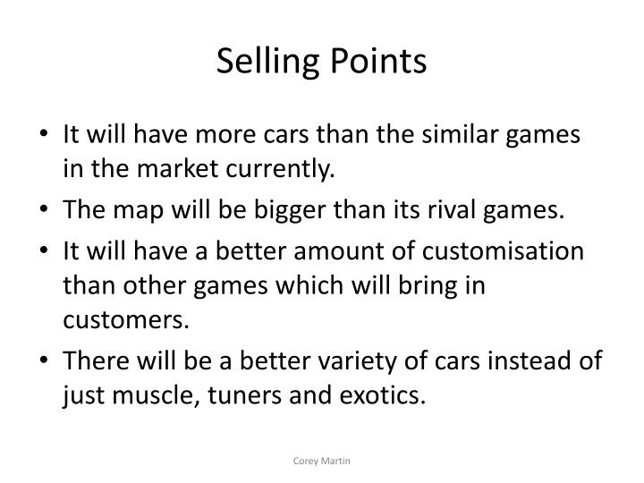 Selling Points