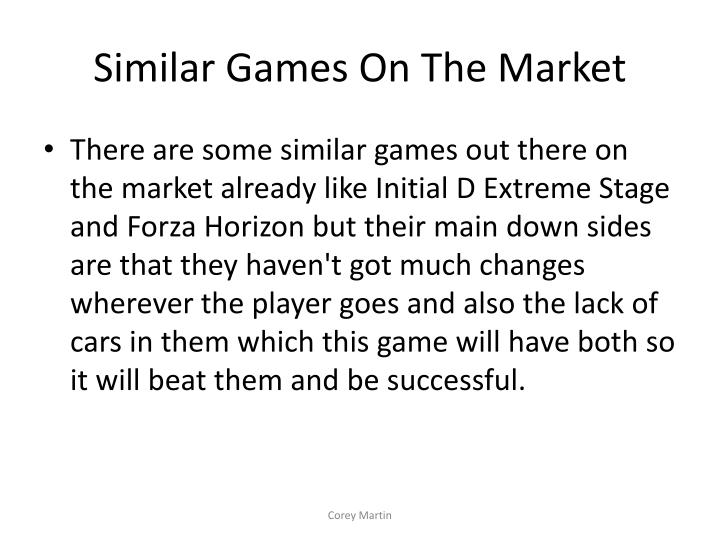 Similar Games On The Market