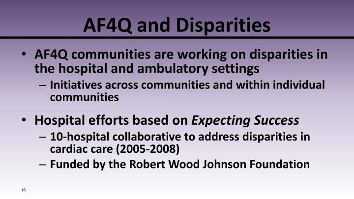 AF4Q and Disparities