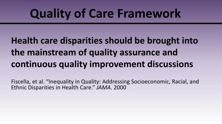 Quality of Care Framework