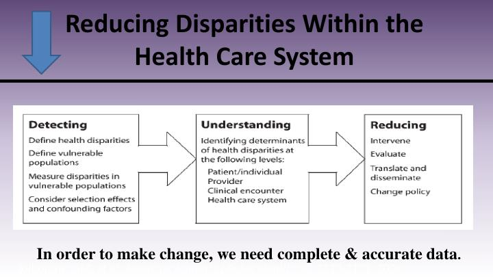 Reducing Disparities Within the Health Care System