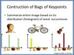 contruction of bags of keypoints