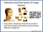 detection and description of image patches