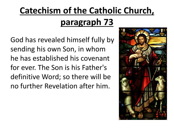 Catechism of the Catholic Church, paragraph 73