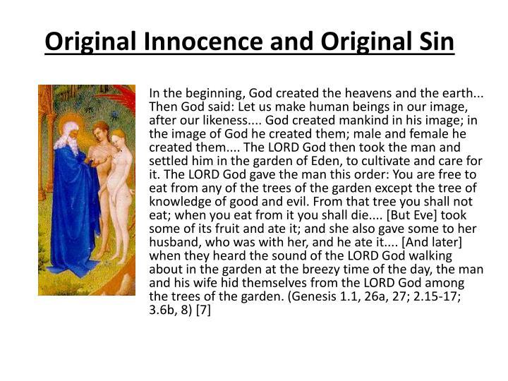 Original Innocence and Original Sin