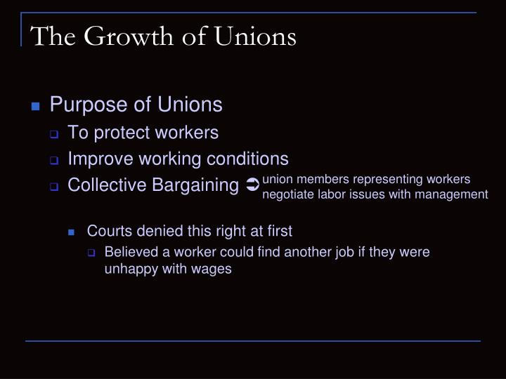 The growth of unions