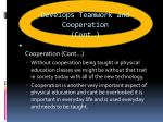 develops teamwork and cooperation cont2