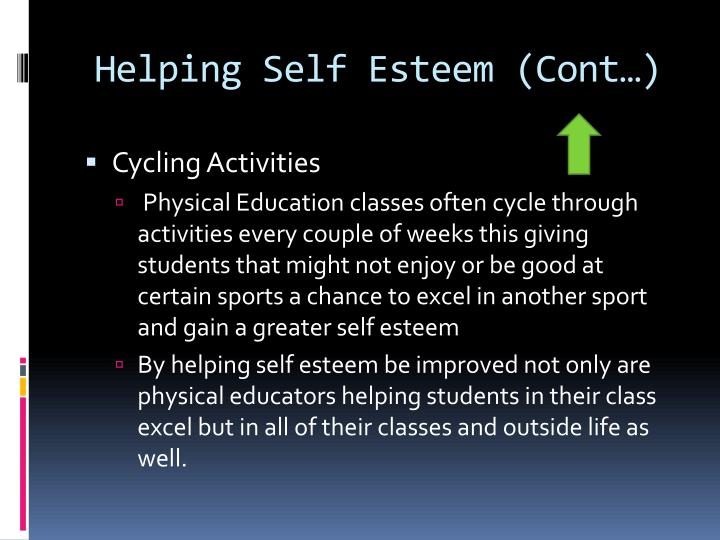Helping Self Esteem (Cont…)