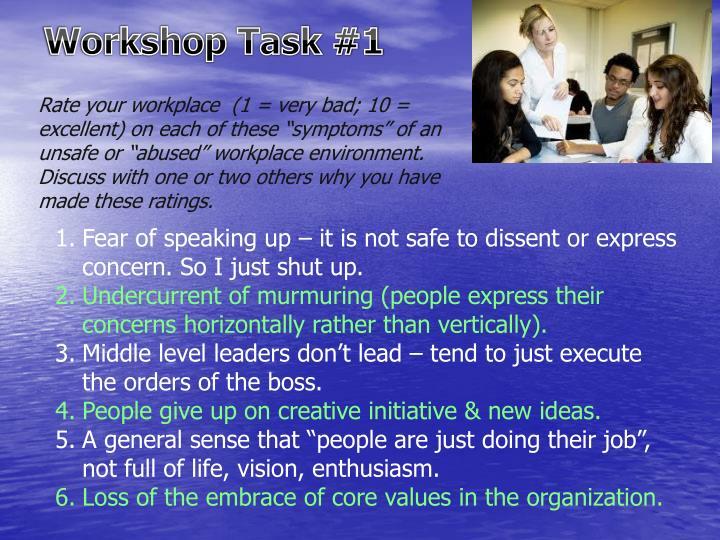 Workshop Task #1