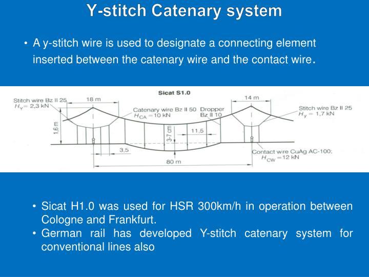 Y-stitch Catenary