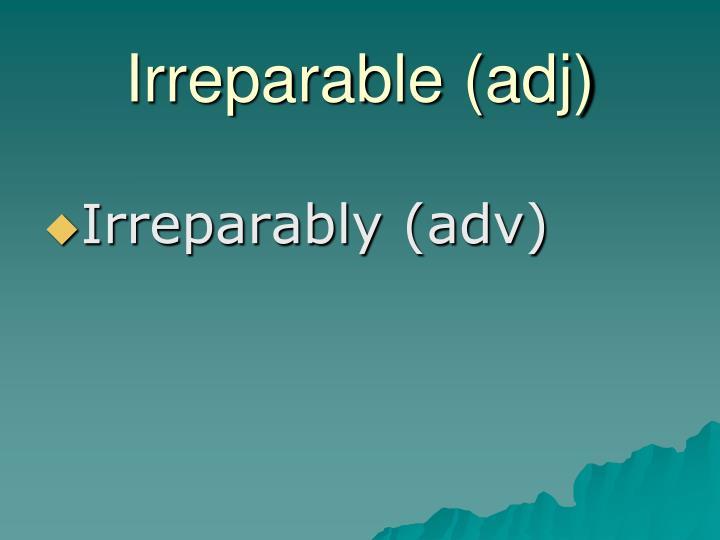 Irreparable (adj)