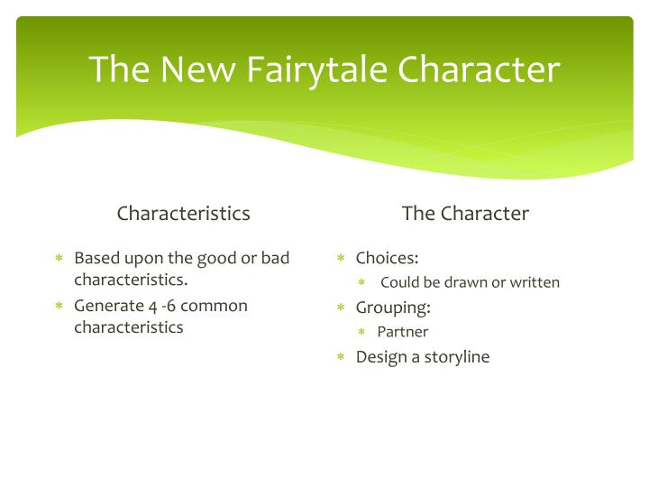 The New Fairytale Character
